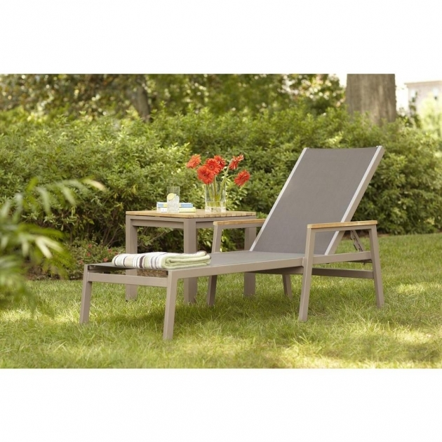 Patio Chaise Lounge Hampton Bay Barnsdale Teak Sling Picture 72