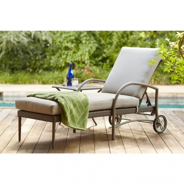 Patio Chaise Lounge Hampton Bay Posada With Gray Cushion Photos 19