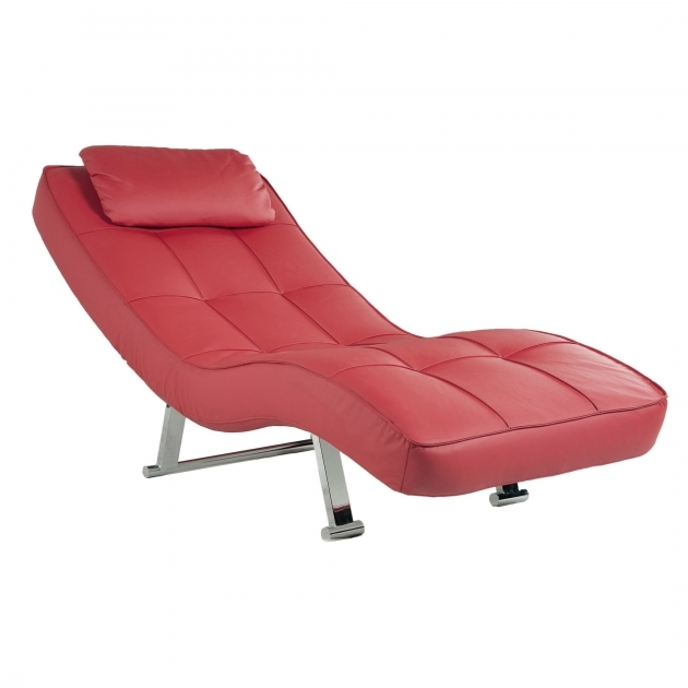 Red Leather Chaise Lounge Modern Bubble Seats Fabric Chairs