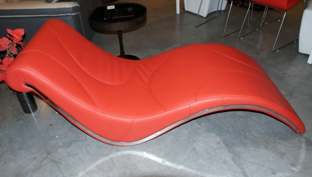 Red Leather Chaise Lounge Modern Ideas Photos 96
