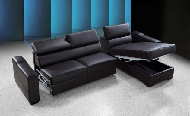 Sofa Bed With Chaise Black With Storage Images 07