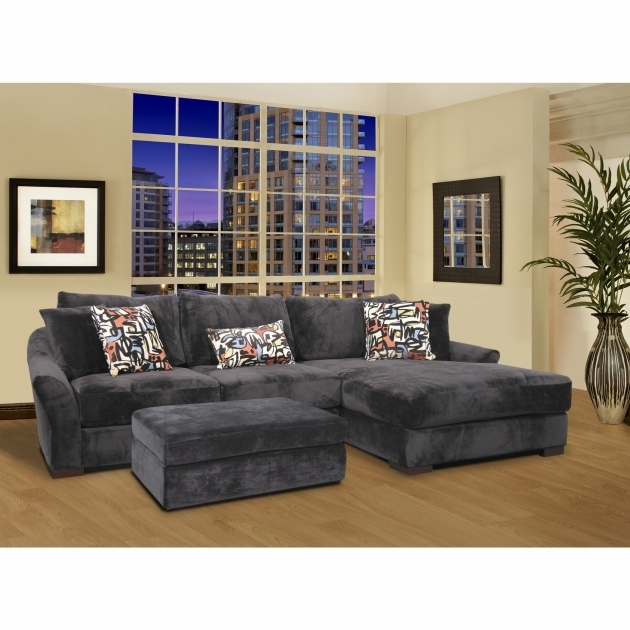 Sofa With Chaise Lounge L Shaped Gray Velvet Sleeper Sofa Added