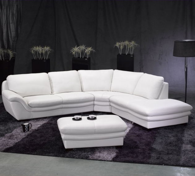 White Leather Sectional With Chaise 5 Piece Couch Cream Picture 76