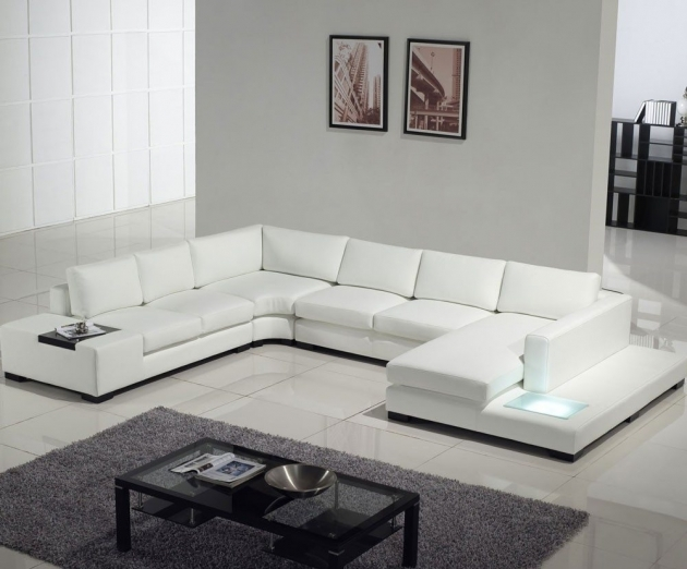 White Leather Sectional With Chaise Contemporary Set Furniture Ideas Pictures 23