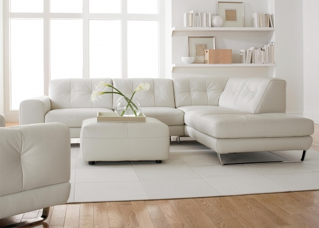 White leather sectional with chaise living room Chaise design confortable