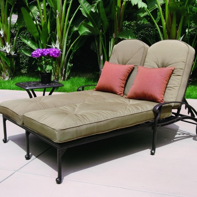 Elegant furniture 2 person chaise lounge indoor monroe for 2 person outdoor chaise lounge