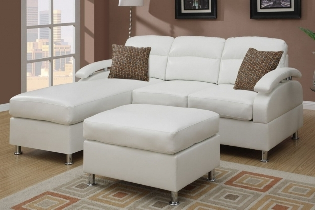 Beautiful White Small Sectional Sofa With Chaise Lounge Picture 74