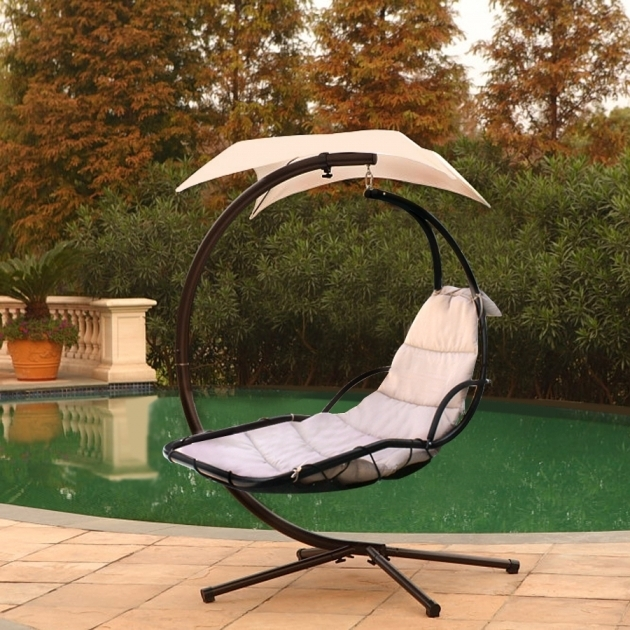 Beige Hanging Chaise Lounge Chair Porch Deck Patio Swing Hammock Pictures 87
