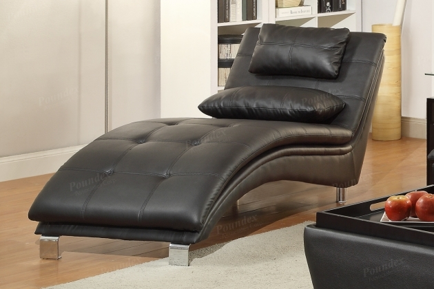 Black Leather Chaise Lounge Picture 80