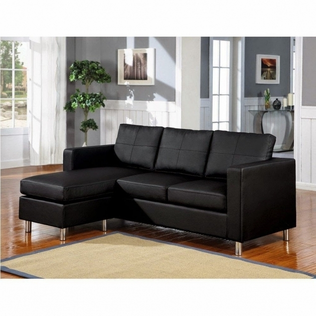 Black Small Couch With Chaise Lounge Image 49