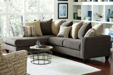 Gray Sectional Sofa with Chaise