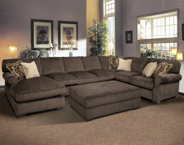 Deep Sectional Sofa With Chaise Transitional Style Photo 81