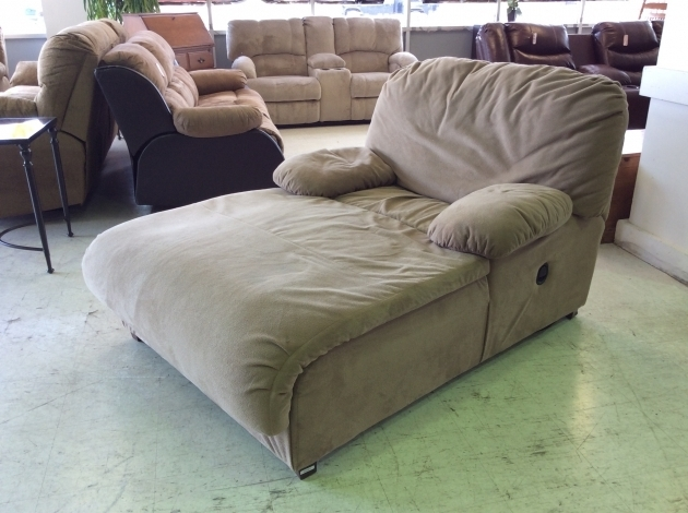 Extra Wide Chaise Lounge Big Home Furniture Cream Colored Fabric Reclining With Two Side Cushion Photo 13
