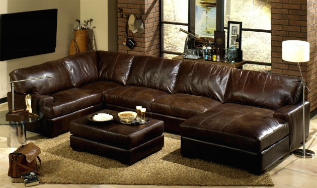 Genuine Leather Sectional With Chaise Brown Leather Sectional Sofas With Recliners Home Decor Furniture Ideas Images 29