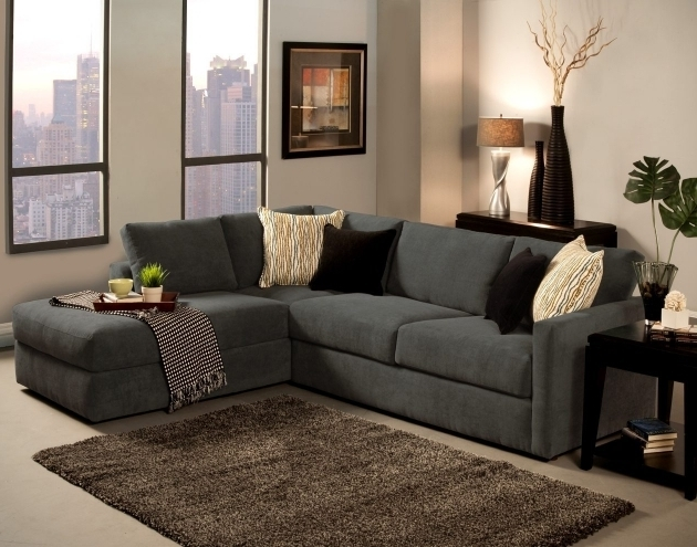 Gray Small Sectional Sofa With Chaise Lounge Furniture Charming Design Ideas Image 41