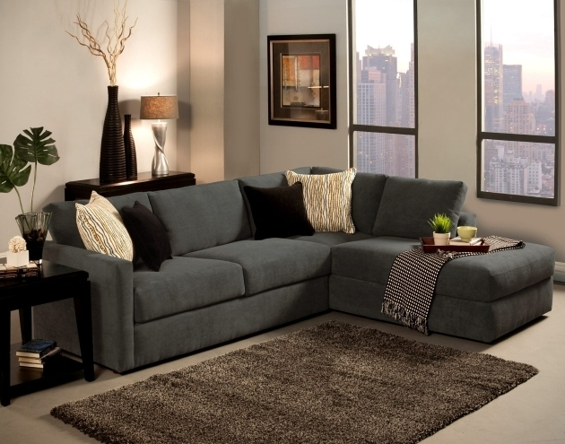 Grey Small Couch With Chaise Lounge  Photos 59