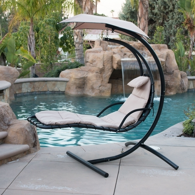 Hanging Chaise Lounge Chair Arc Stand Design White Air Porch Swing Hammock Images 53