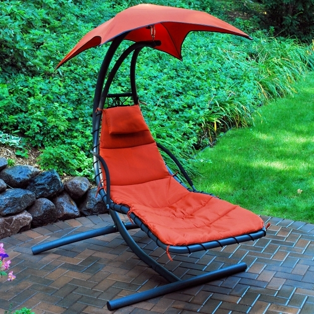 Hanging Chaise Lounge Chair Orange Photos 16