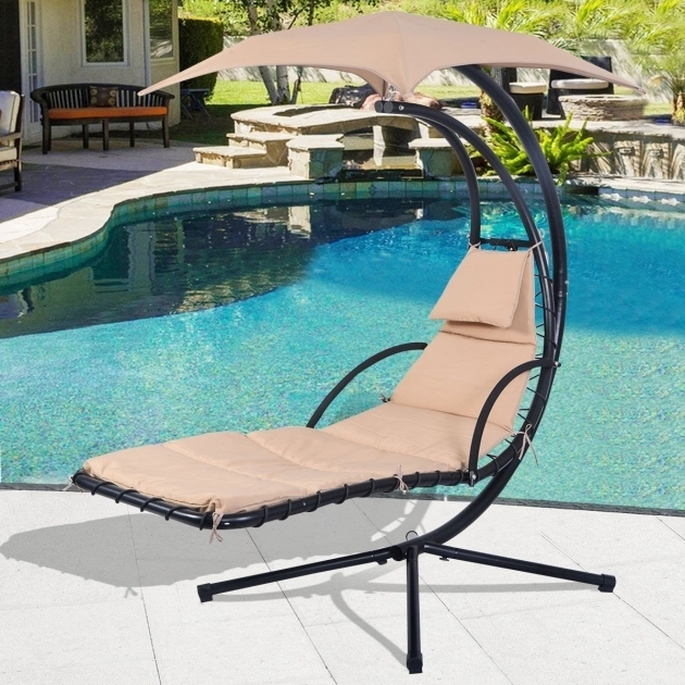 Hanging Chaise Lounger Chair Arc Stand Air Porch Swing Hammock Cream Lether Picture 95