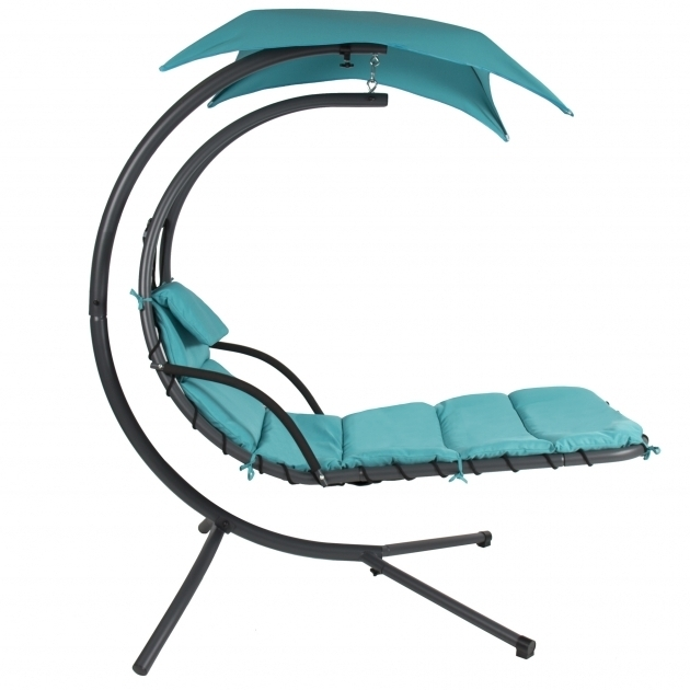 Hanging Chaise Lounger Chair Arc Stand Blue Air Porch Swing Hammock Hanging Chaise Lounge Chair Picture 16