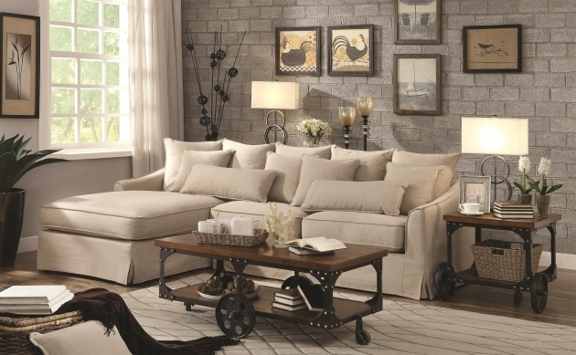 Knottley Slipcover Sectional Sofa With Chaise And Feather Blend Photo 13