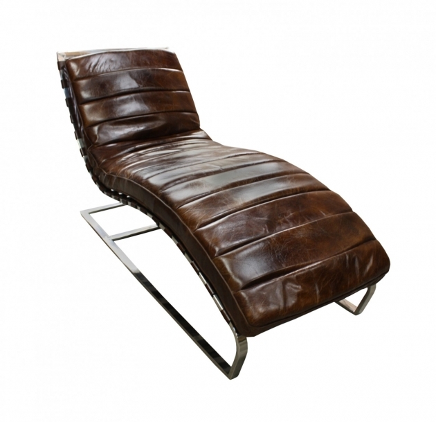 Leather Chaise Lounge Furniture Ideas Images 40