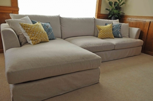 Classic Slipcover Sectional Sofa With Chaise Photos 75 Chaise Design