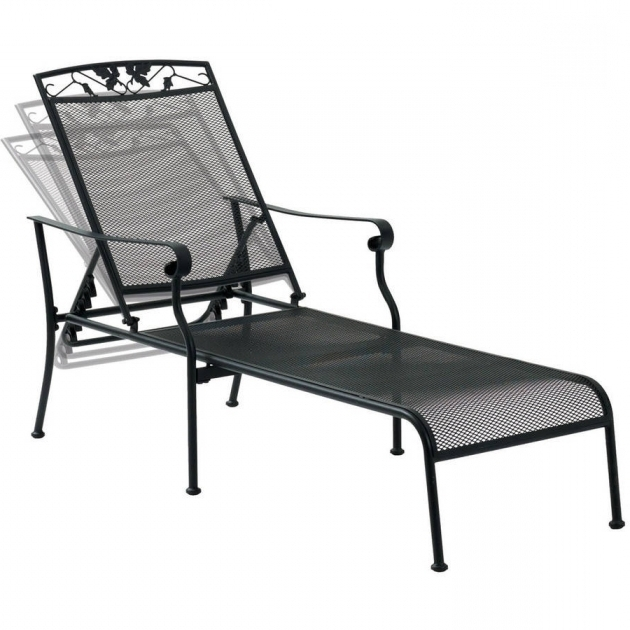Mainstays Jefferson Wrought Iron Chaise Lounge Chairs Black Ideas Photo 86