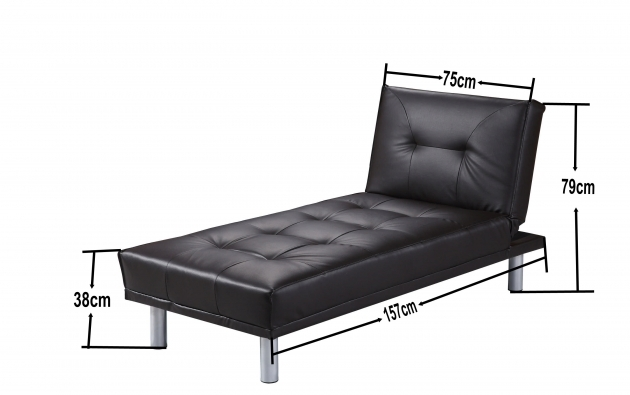 Manhattan Black Chaise Lounge Dimensions Photo 48