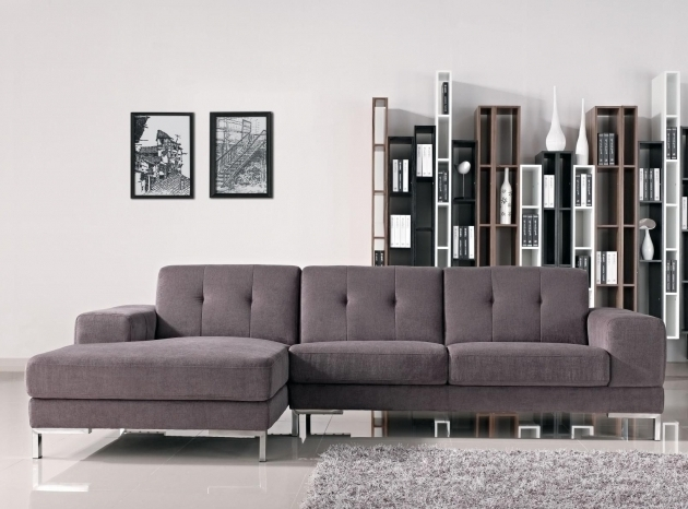 Modern Gray Sectional Sofa With Chaise Gray Velvet With Adjustable Headrest  Photo 63