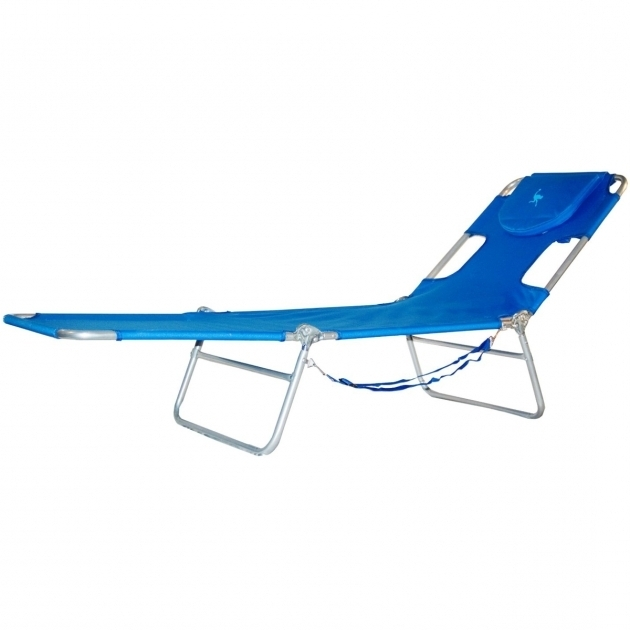 Ostrich Chair Folding Chaise Lounge Face Down Blue Picture 45