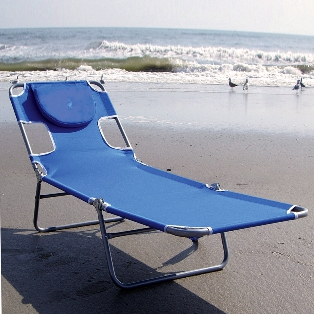 Ostrich Face Down Chaise Lounge Folding Beach Lounger Ostrich Chair Folding Chaise Lounge Blue Photo 46