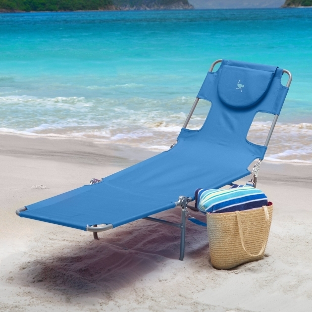 Outdoor Ostrich Chair Folding Chaise Lounge Blue Image 93