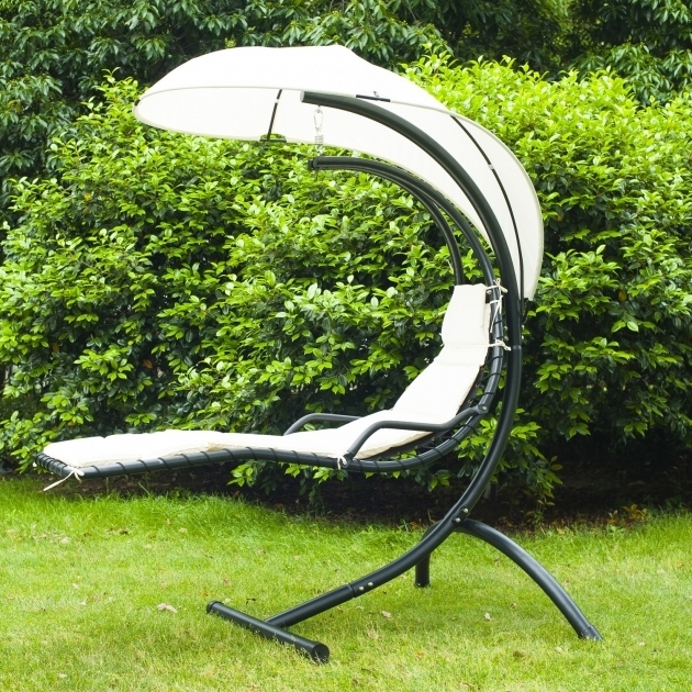 Outsunny Hammock Outdoor Hanging Chaise Lounge Chair Seat Swing Seater Garden Chair Picture 06
