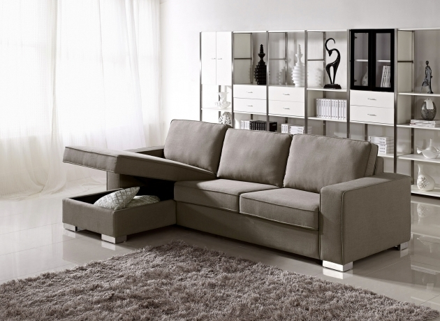 Pale Brown Leather Sofa Chaise Lounge With Storage Picture jolenesart81
