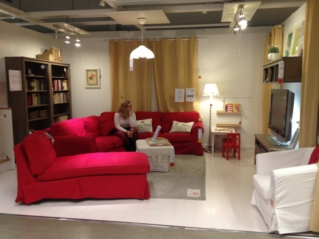 Red Fabric Oversized Chaise Lounge Sofa With Back And White Cushion Images 98