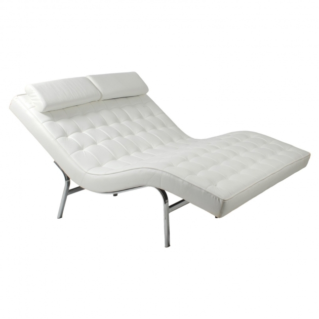 Simple 2 Person Chaise Lounge Indoor White Picture 72