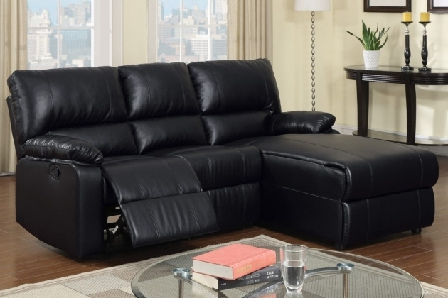 Small Couch With Chaise Lounge Furniture Black Leather Sectional