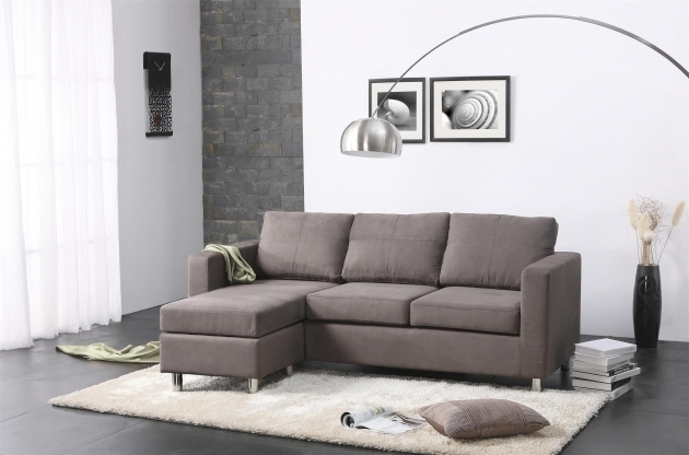 Small Leather Sectional Sleeper Sofa With Chaise Lounge And Storage On Rectangle White Fur Rug Picture jolenesart83
