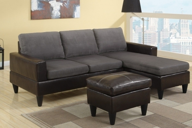Small Modern Vinyl Gray Sectional Sofa With Chaise Image 79