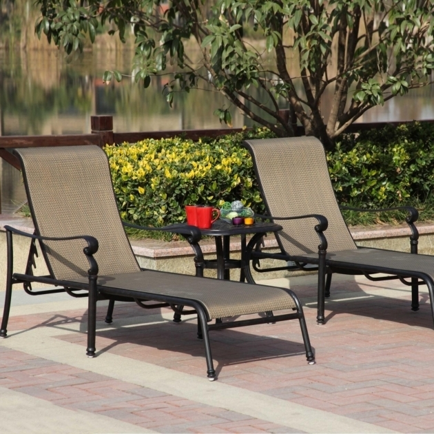 Two person chaise lounge darlee monterey 3 piece sling for 2 person outdoor chaise lounge