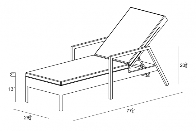 Chaise lounge dimensions chaise design for Chaise dimensions
