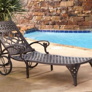 Wrought Iron Chaise Lounge Chairs