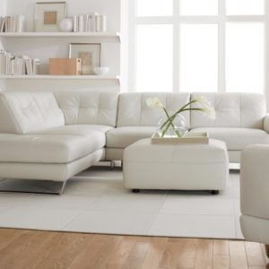 Leather Sectional Sleeper Sofa with Chaise