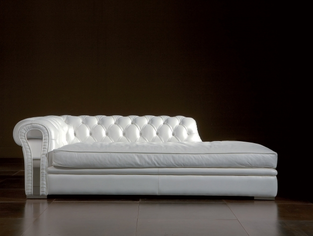 White Leather Sofa And Chaise Lounge Chairs Living Rooms Leather Chaise Lounge Image 59