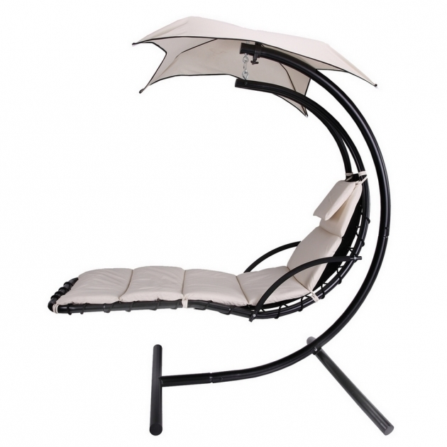 White Palm Springs Outdoor Hanging Chaise Lounge Chair Recliner Swing Air Chaise Picture 57