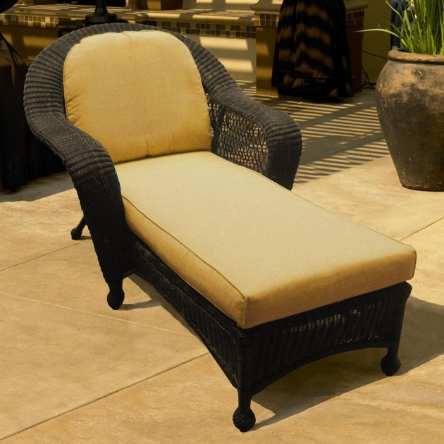 Wicker Chaise Lounge Port Royal Single Chaise Chair  Pic 62