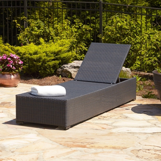 Wicker Chaise Lounge Resin Gray  Photos 54