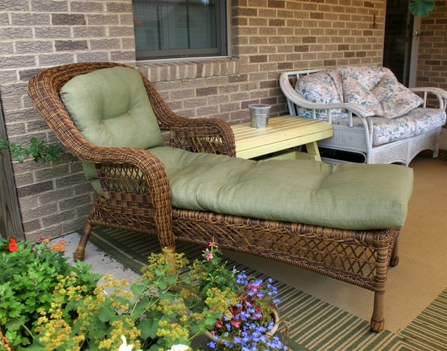 Wicker Chaise Lounge With Cushions Pictures 96