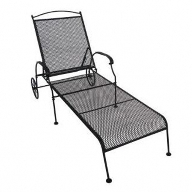 Wrought Iron Lounge Chairs Black Chaise Picture 37
